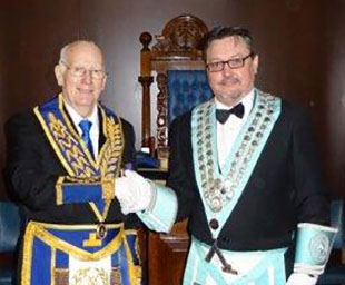 Dave takes the chair at venerable Hesketh Lodge