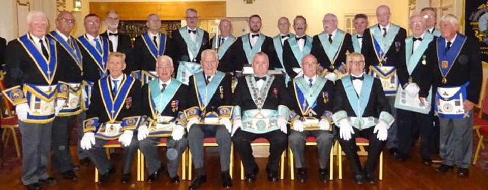 Proud members of Thornton and Cleveleys Lodge.