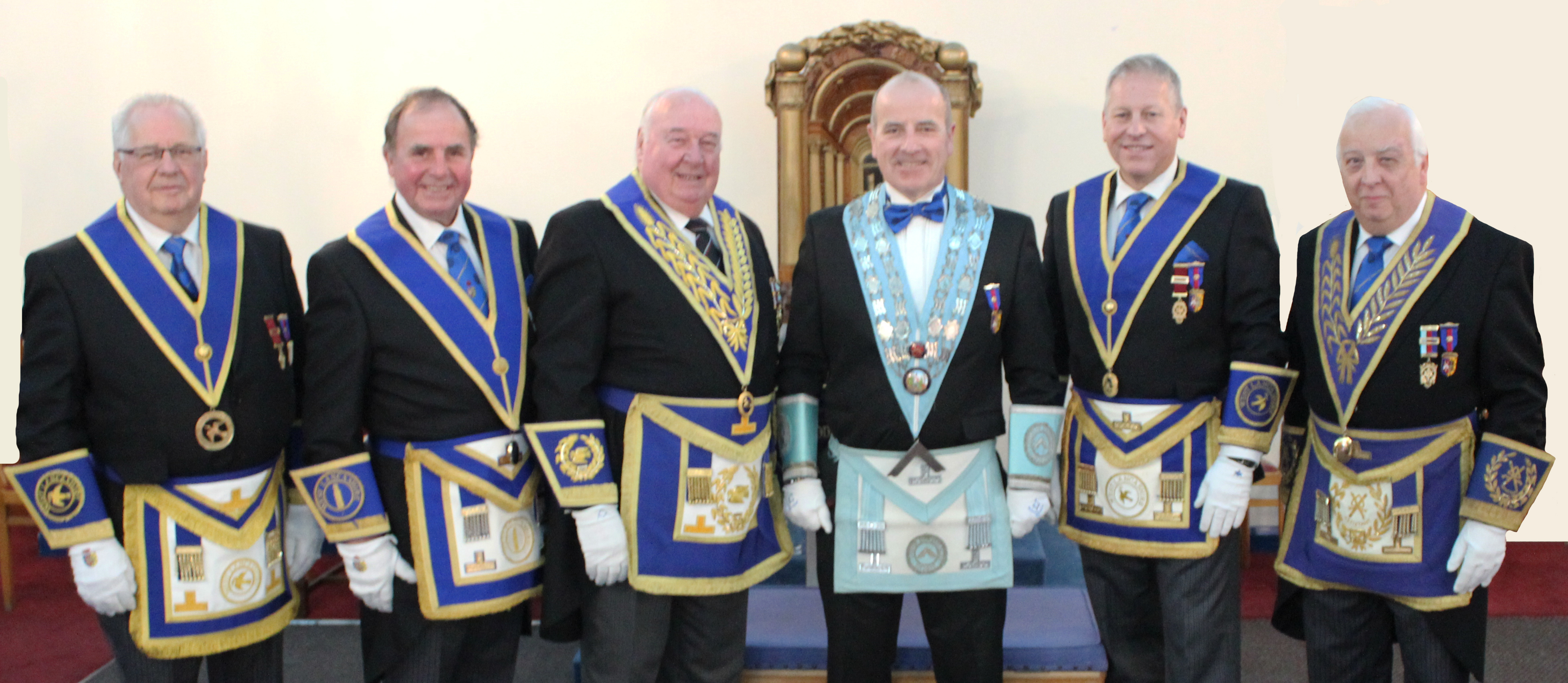 Pictured from left to right are: Rick Walker, Graham Chambers, Peter Levick, Andrew Bradshaw, David Dugdale and Malcolm Alexander.