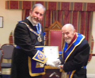 Eric celebrates 50 years in Freemasonry