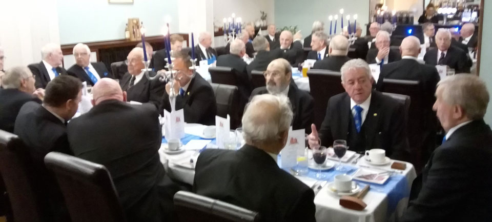 The brethren at the festive board.