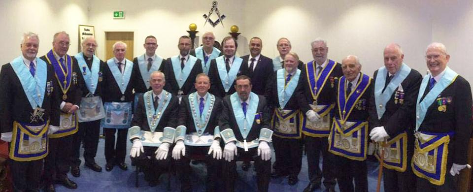 The brethren of Radio Millennium Lodge.