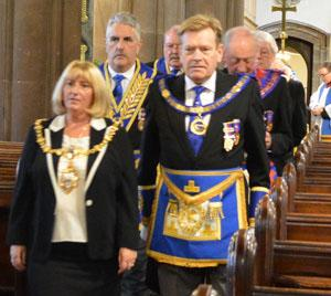 Procession lead by Cllr Karen Mundry and Kevin Poynton.