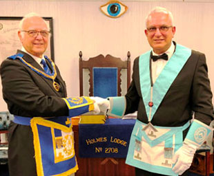 John is new master of Holmes Lodge