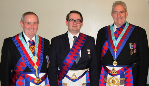 Pictured from left to right, are: Tony Hall, Oliver Leach and Andrew Whittle.