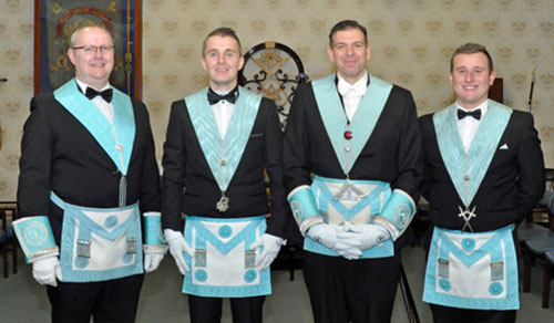 Pictured from left to right, are: Russ Garner, Richard Gillett, Andrew Howarth and Tom Richardson.