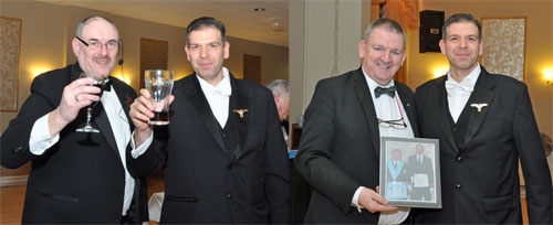 Picture left: Iain Simpson (left) and Andrew Howarth. Picture right: Peter Horgan (left) and Andrew Howarth.
