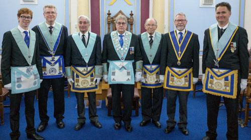 The brethren of Ellesmere Lodge No 3068.