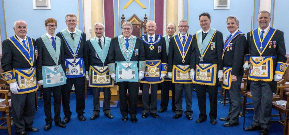 The lodge brethren and principal guests.