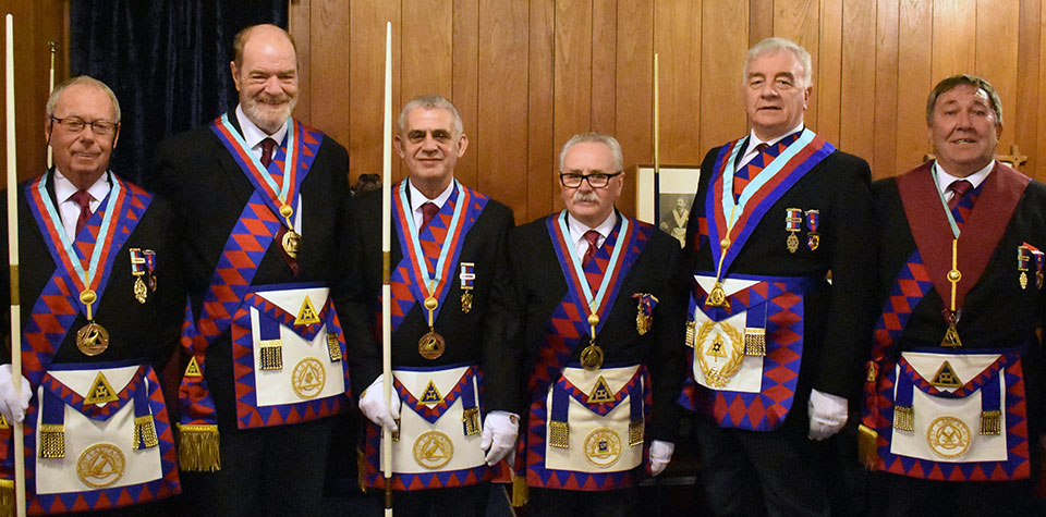 Pictured from left to right, are; Peter Pemberton, Andrew Bartlett, John Browne, Tony Cassells, Barrie Crossley and Graham Slater.