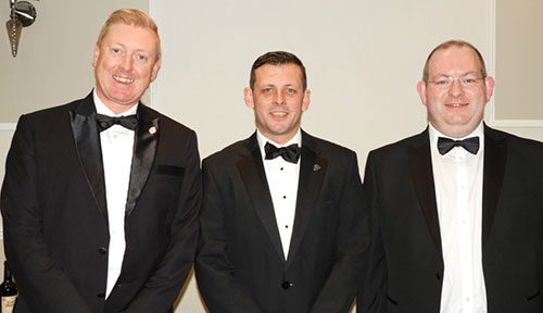 Pictured from left to right, are: Mike Cosgrave, Allan Ritchie and Neil Murray.