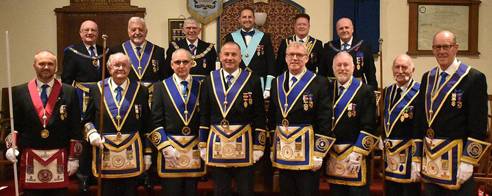 Pictured from left to right, front row are; Steve McKellar, John Broadhurst, Reg Wilkinson, Garry Norris, Phil Preston, Les Newlands, Ralph Spour and Graham Dowling. Rear row: David Grainger, Barry Dickinson, Tony Harrison, Mark Little, Peter Schofield and David Winder.
