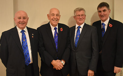 Pictured from left to right, are; Frank Pearson, Bill Edmonds, Tony Nevinson and Terry Pearson.