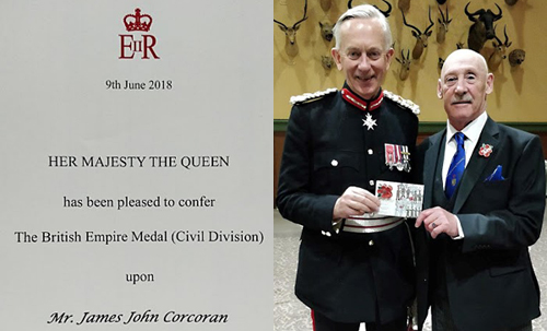 Certificate of Appointment, David Briggs (Lieutenant of Cheshire) and Jim Corcoran
