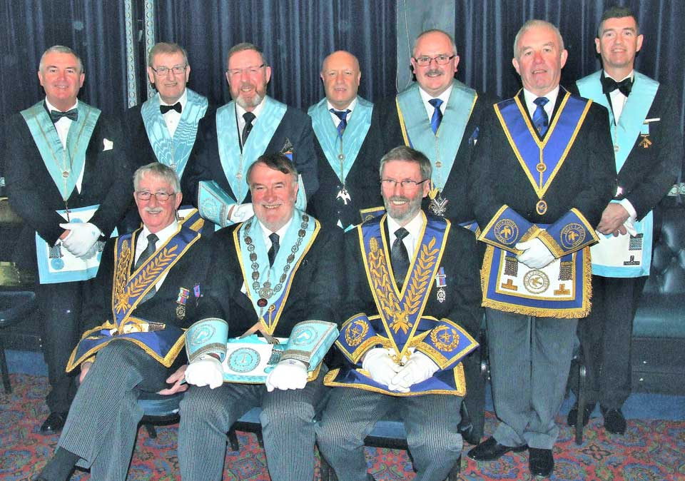 Pictured left to right, are: (back row) Mike Hunt, Gordon Heron, Roger Phillips, Rod McGregor, Bob Patterson, Geoff Green and Kevin Gates Lundon, (front row) Bill Culshaw, Peter Duggan and David Hilliard.