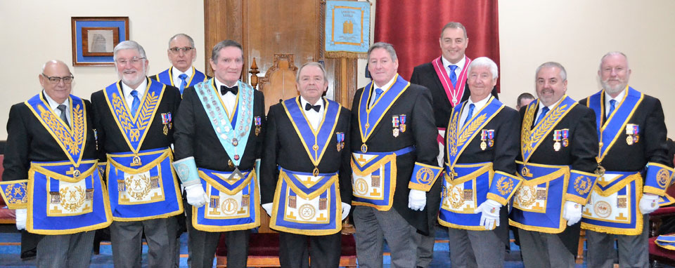 Pictured from left to right, are: Malcolm Dewhurst, John Robson, Reg Wilkinson, Jim Hamilton, John Clare, Neil McGill, Scott Devine, Jim Wilson, Chris Butterfield and Les Newlands.