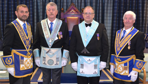 Pictured left to right, are: Dave Thomas, John Thornton, Andrew Keith and Jim Wilson.