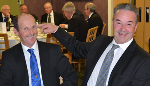 'Having a laugh' Harry Parker (left) and Alan Gardner, visitors from Scorton Lodge No 5791.