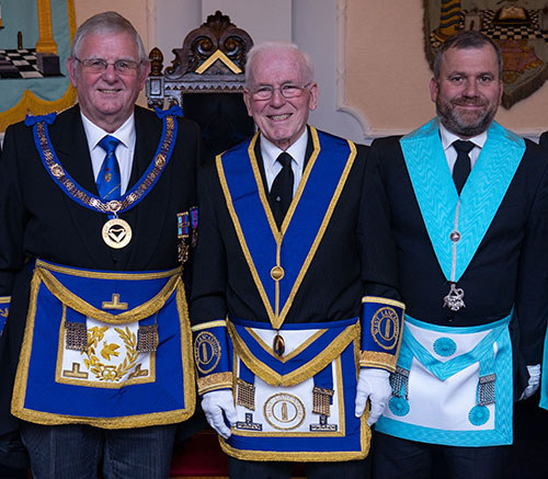 Stewart Seddon (left), Arthur (centre) and James Heaton.