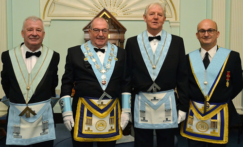 Pictured left to right, are: Phil Clements, Adrian McLaughlin, Colin Harrop and Oliver Winder