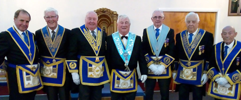 Pictured from left to right, are: Graham Chambers, John Wilcox, Peter Levick, John Rawcliffe, Stuart Cunningham, Malcolm Alexander and Russell Morris.