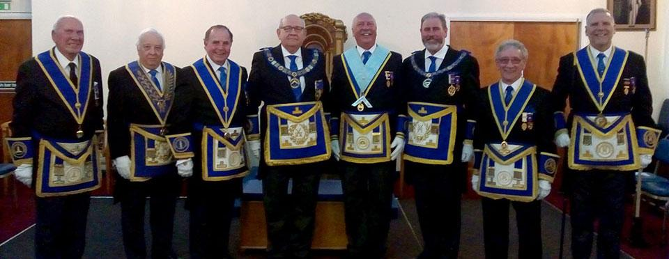 Pictured from left to right, are: Edward Clarke, Malcolm Alexander, Graham Chambers, Phil Gunning, Andrew Clarke, Frank Umbers, Malcolm Sandywell and Barry Fitzgerald.