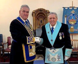 John is installed at Aughton Lodge