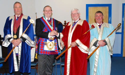 Pictured from left to right are: John Hanna, Tony Hall, Kenneth Meath and David Maher.