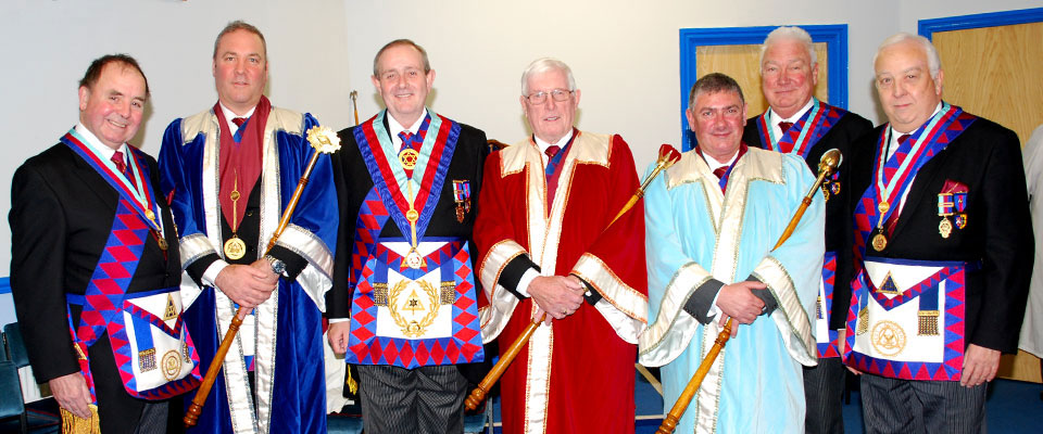 Pictured from left to right, are: Graham Chambers, John Hanna, Tony Hall, Kenneth Meath, David Maher, Michael Greenhalgh and Malcolm Alexander.