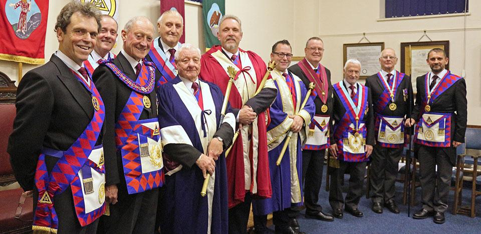 Pictured from left to right, are: Mike Threlfall, Tony Hall, Barry Jameson, Ian Greenwood, Terry Turley, David Asbridge, Simon Wright, Terry Ward, Geoff Saul, Jim Hardman and David Thomas.