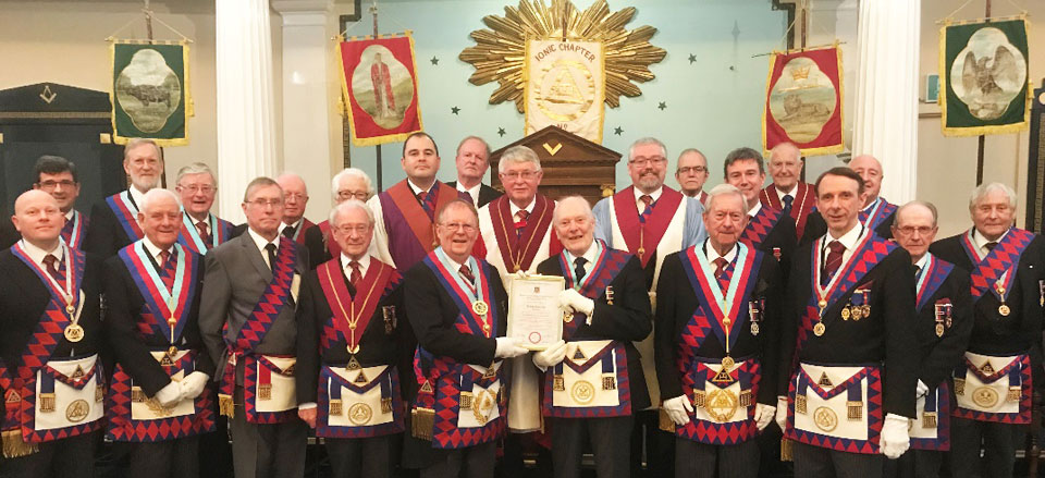 Guests and members of Ionic Chapter.