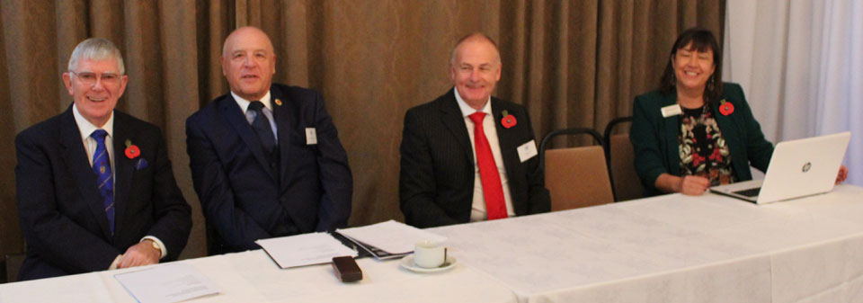 Pictured from left to right, are: Tony Harrison, Steve Kayne, Howard Lloyd WLFC Finance Manager and Simone Enefer-Doy.