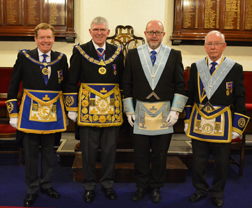 Pictured from left to right, are: Kevin Poynton, Tony Harrison, Robert Wilson (WM) and John McIntyre.