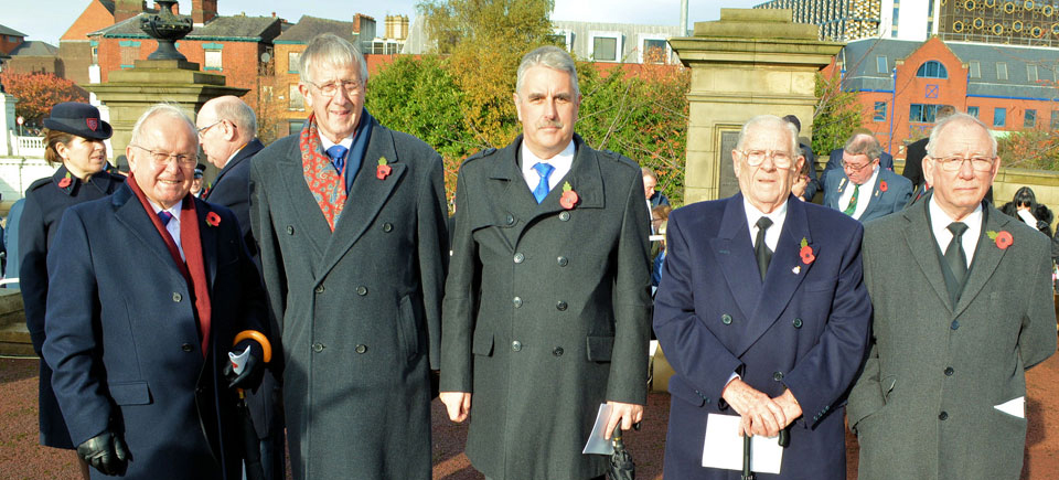 Pictured from left to right, are: Eric Drinkwater, Neville Hodson, Andy Barton, Stan Churm and John McIntyre.