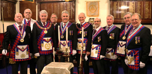 Pictured from left to right, are: Malcolm Bell, Paul Rigby, Paul Renton, David Anderson, Andy Barton, Barry Jameson, David Case, Ian Boardman, Peter Whalley and Colin Rowling.