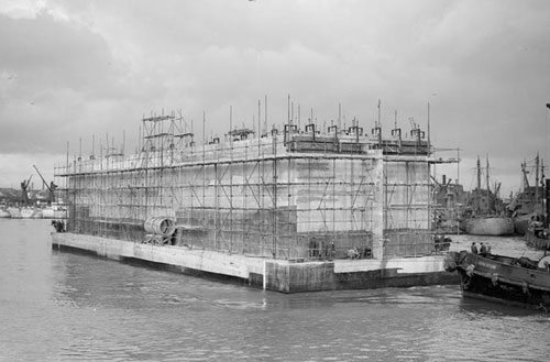 Mulberry Harbour Section (image courtesy of Imperial War Museum).