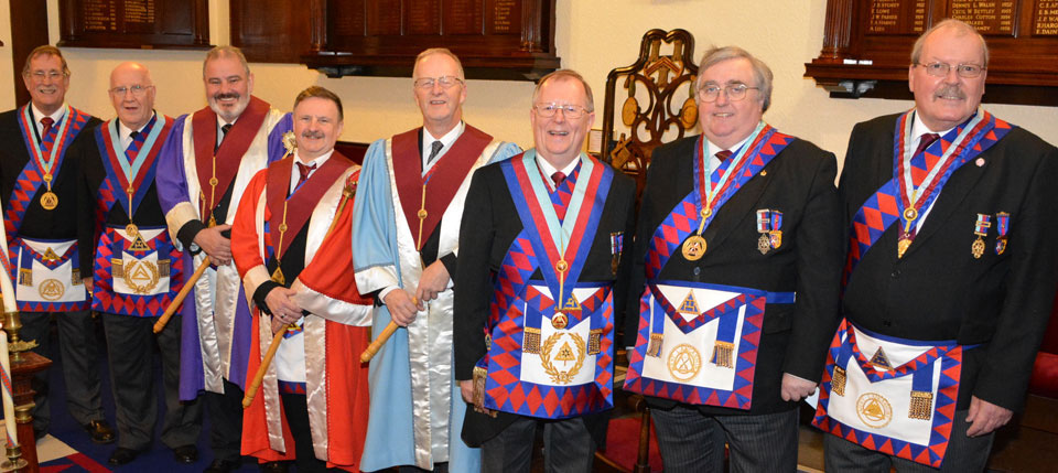 Pictured from left to right, are: David Anderson, Dennis Rudd, Steve Wallace, Eric Miller, Michael Williams, Colin Rowling, Peter Whalley and Chris Gleave.