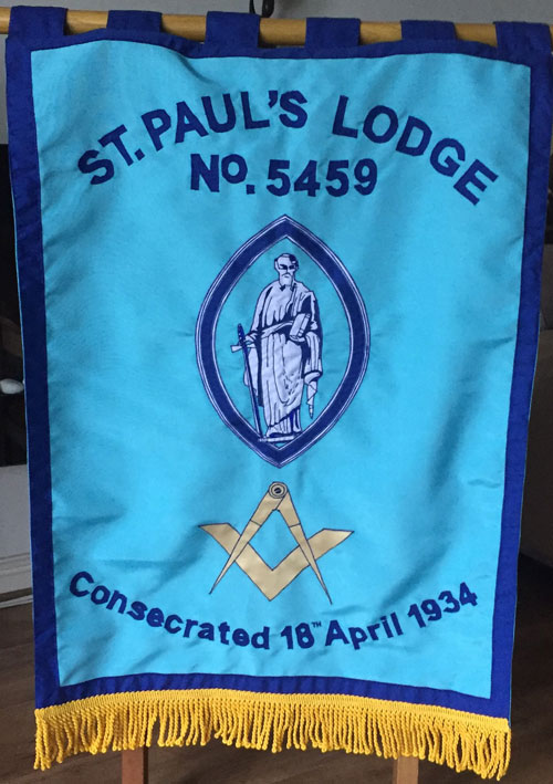 St Paul's Lodge banner.
