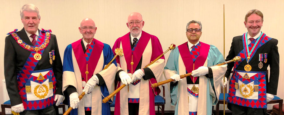 Pictured from left to right, are: Paul Renton, Eddie Atherton, John Seddon, Roy Kholi, and Paul Hesketh.