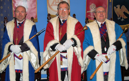 Pictured from left to right, are: Colin Graham, George Strickland and Perter Casey.