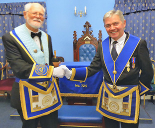 Malcolm Jolley installs his successor