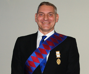 Stuart exalted into Red Triangle Chapter