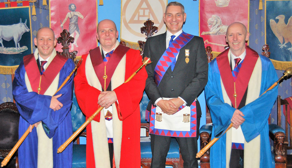 Pictured from left to right, are: Mike Fox, Alan Routledge, Stuart Allen and Ian McGovern