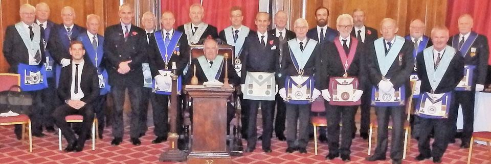 Members and guests of Liverpool Mercantile Lodge.