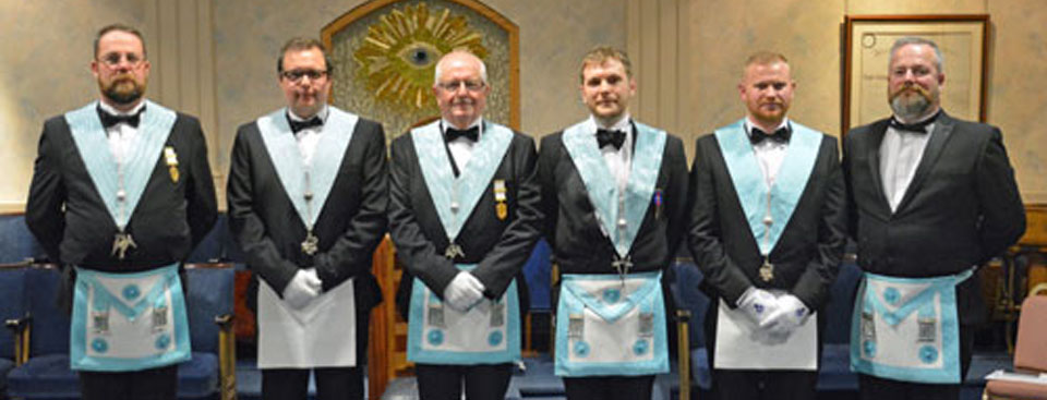Light blue members of the lodge.