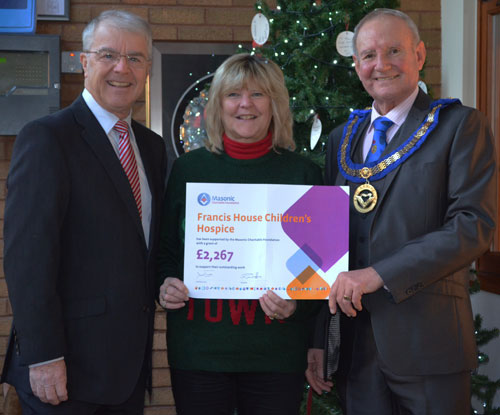 Pictured from left to right, are David Durling (South Eastern Group Chairman), Kate Puc (Fundraising Manager) and Dave Walmsley (APrGM).