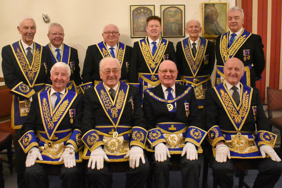 Pictured from left to right standing, are: Ralph Walker, Keith Kemp, John Quiggin, Peter Schofield, Roger Flitcroft and Barrie Crossley. Seated are: Jim Wilson, Oliver Chalker, David Grainger and Rowly Saunders.