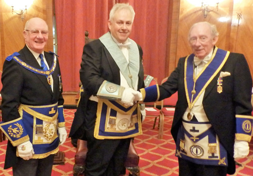 Pictured left to right, are: David Granger, Ian Walton and Reg Evans.