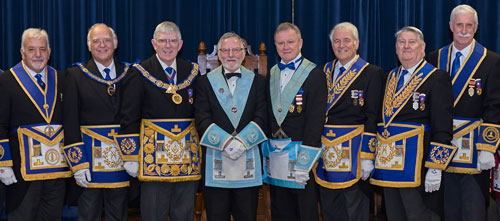 Pictured from left to right, are: Barry Dickinson, David Ogden, Tony Harrison, John Galbraith, Tony Roe, Geoff Bent, Malcolm Parr and John Karran.
