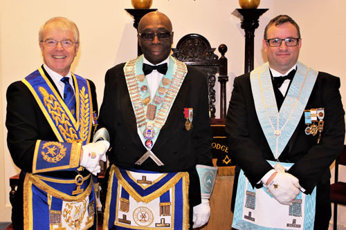 Pictured from left to right, are: David Durling, Ian Thompson and Andrew Wallace.